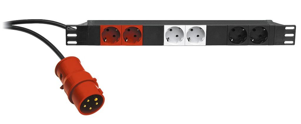 "KM28664 - 19"" power distribution unit - 6x German socket + 16A input"
