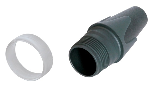 BXX-CR - Black bushing with clear coding ring