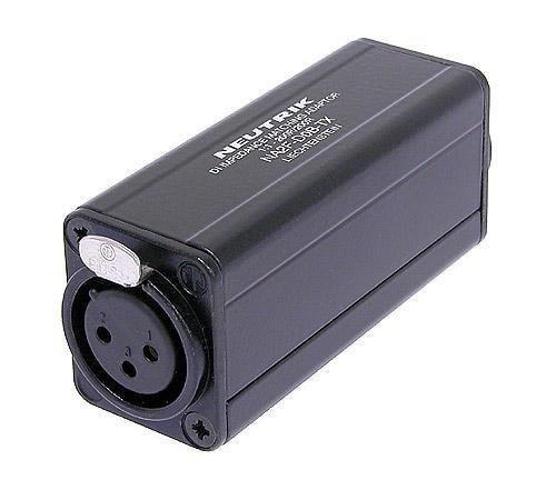 NA2F-D0B-TX - Miniature transformer balancing adapter, 3 pole XLR female - RCA / phono socket