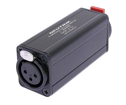 NA2F-J-TX - Miniature transformer balancing adapter, 3 pole XLR female - 1/4 inch jack