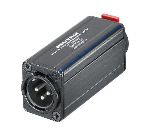 NA2M-J-TX - Miniature transformer balancing adapter, 3 pole XLR male - 1/4 inch Jack