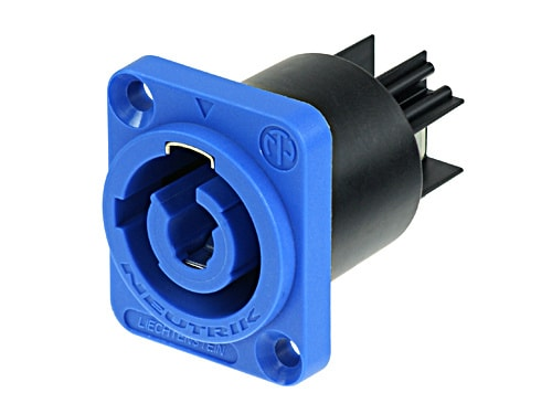NAC3MPA-1 - Chassis connector, power-in, 3/16 inch flat tab terminals