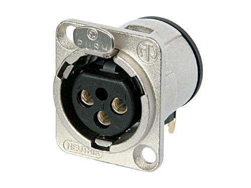 NC3FD-H - 3 pole female receptacle, horizontal PCB mount