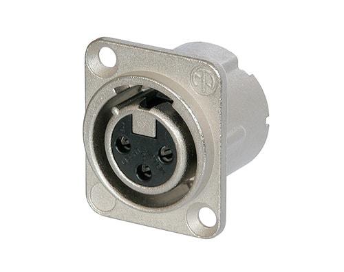 NC3FD-LX - 3 pole female receptacle, solder cups