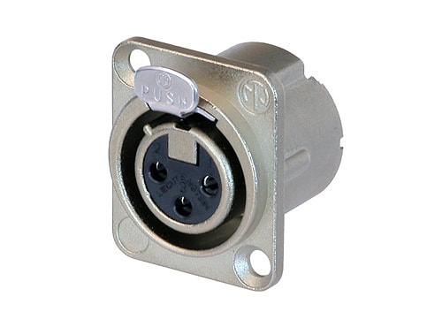 NC3FD-LX - 3 pole female receptacle, solder cups