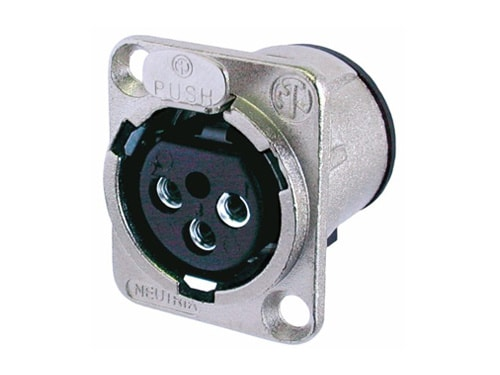 NC3FD-V - 3 pole female receptacle, vertical PCB mount