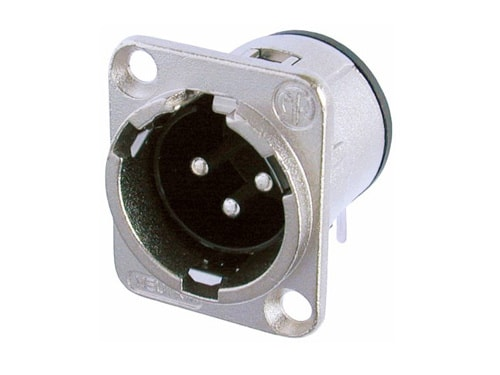 NC3MD-H - 3 pole male receptacle, horizontal PCB mount