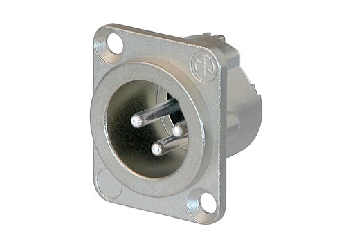 NC3MD-LX - 3 pole male receptacle, solder cups