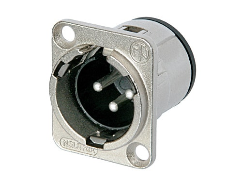 NC3MD-V - 3 pole male receptacle, vertical PCB mount