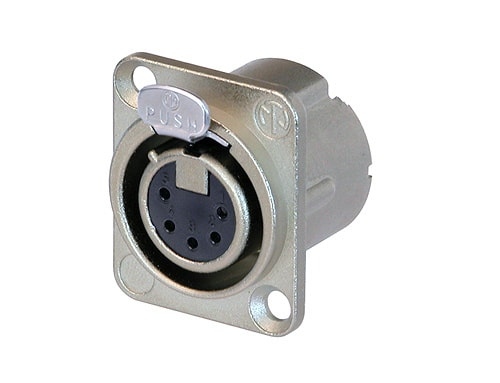 NC5FD-LX - 5 pole female receptacle, solder cups