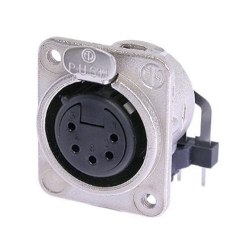 NC5FDM3-H - 5 pole female receptacle, horizontal PCB mount