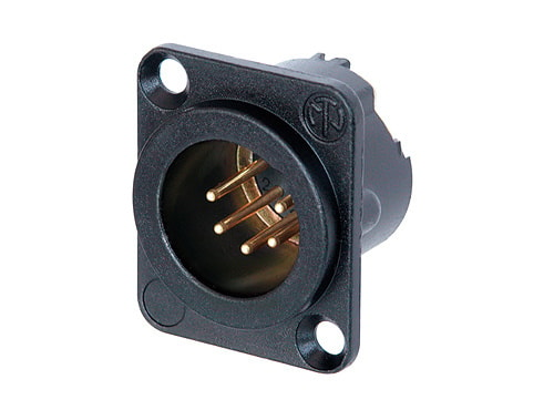 NC5MD-LX - 5 pole male receptacle, solder cups