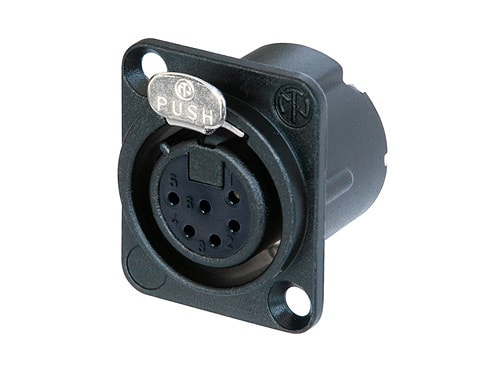 NC6FD-LX - 6 pole female receptacle, solder cups