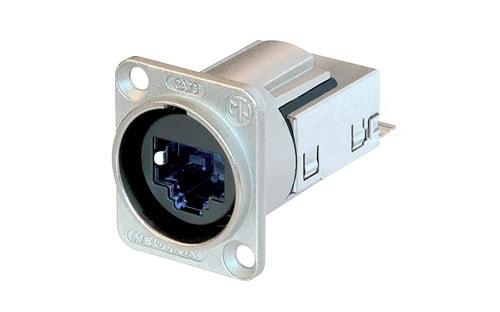 NE8FDY-C6 - D-shape CAT6 panel connector