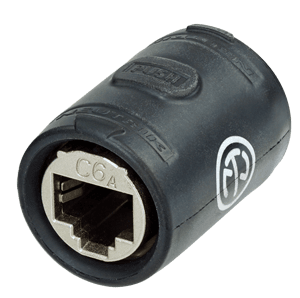 NE8FFX6-W - EtherCon CAT6A feedthrough coupler for cable extensions