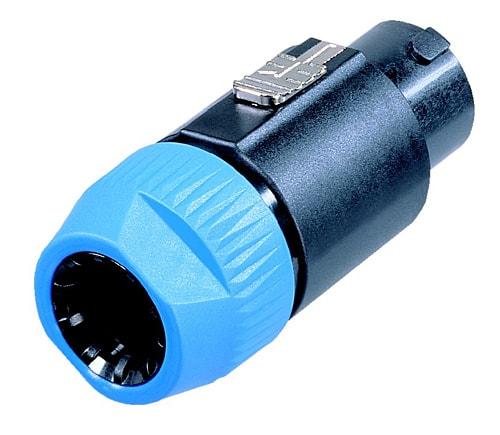NL8FC - 8 pole cable connector, latch lock, chuck type strain relief for cables 8 - 20 mm diameter