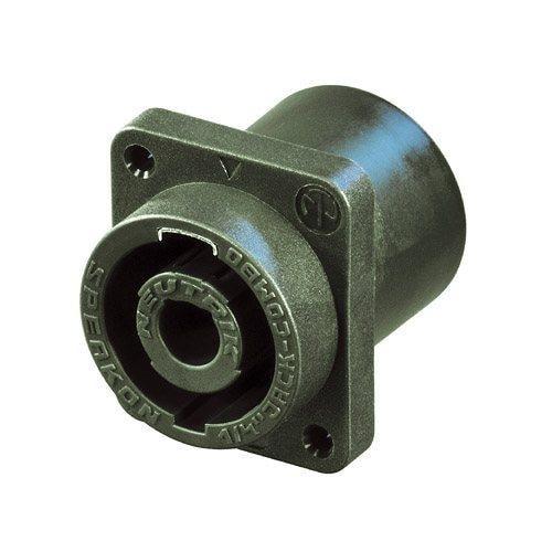 NLJ2MD-V - 2 pole combination of speakON socket and 1/4 inch jack receptacle, vertical pcb mount