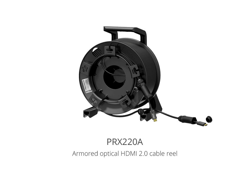 Armored optical HDMI 2.0 cable reel