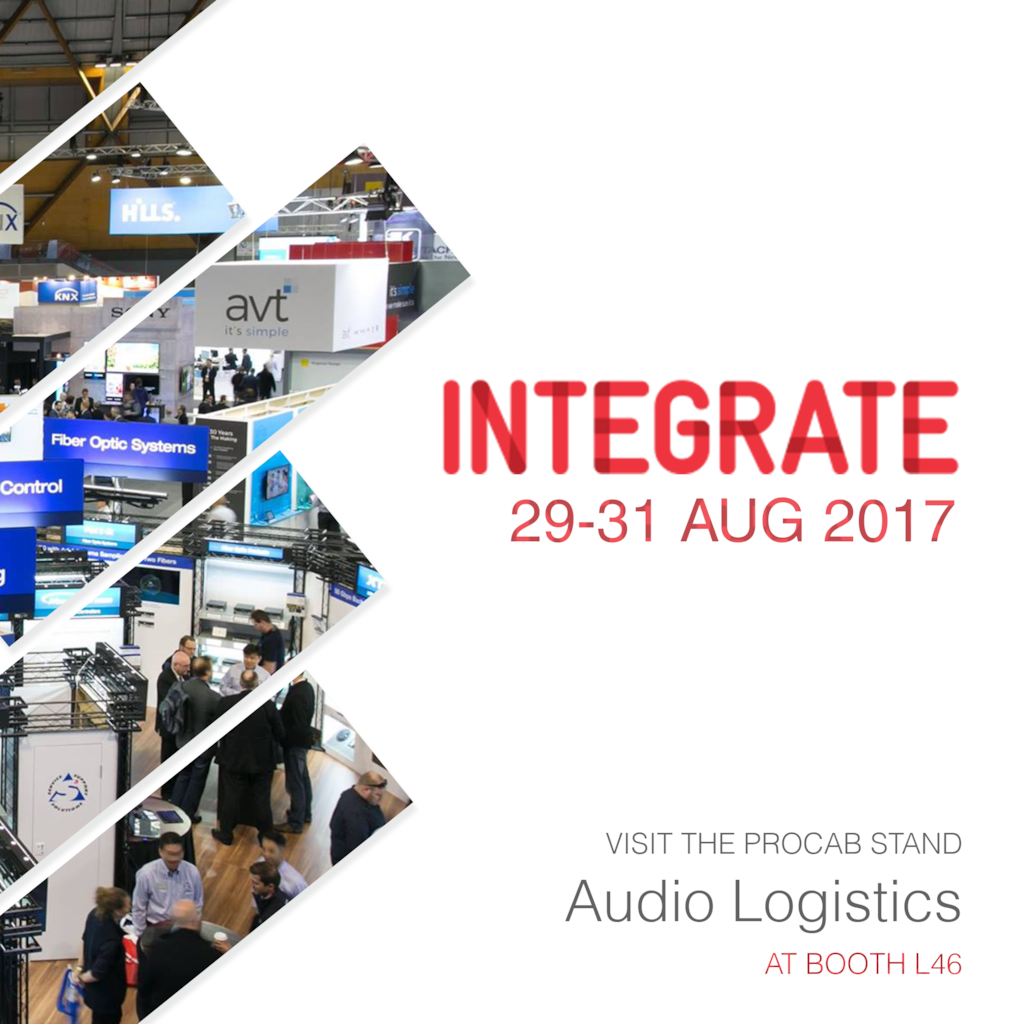 Visit PROCAB at Integrate Australia - 29 - 31 August 2017 Melbourne Exhibition Centre