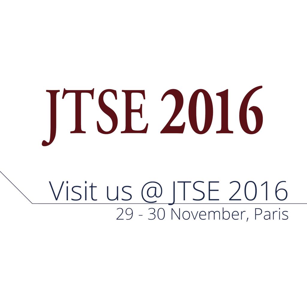 Visit us at JTSE 2016 -