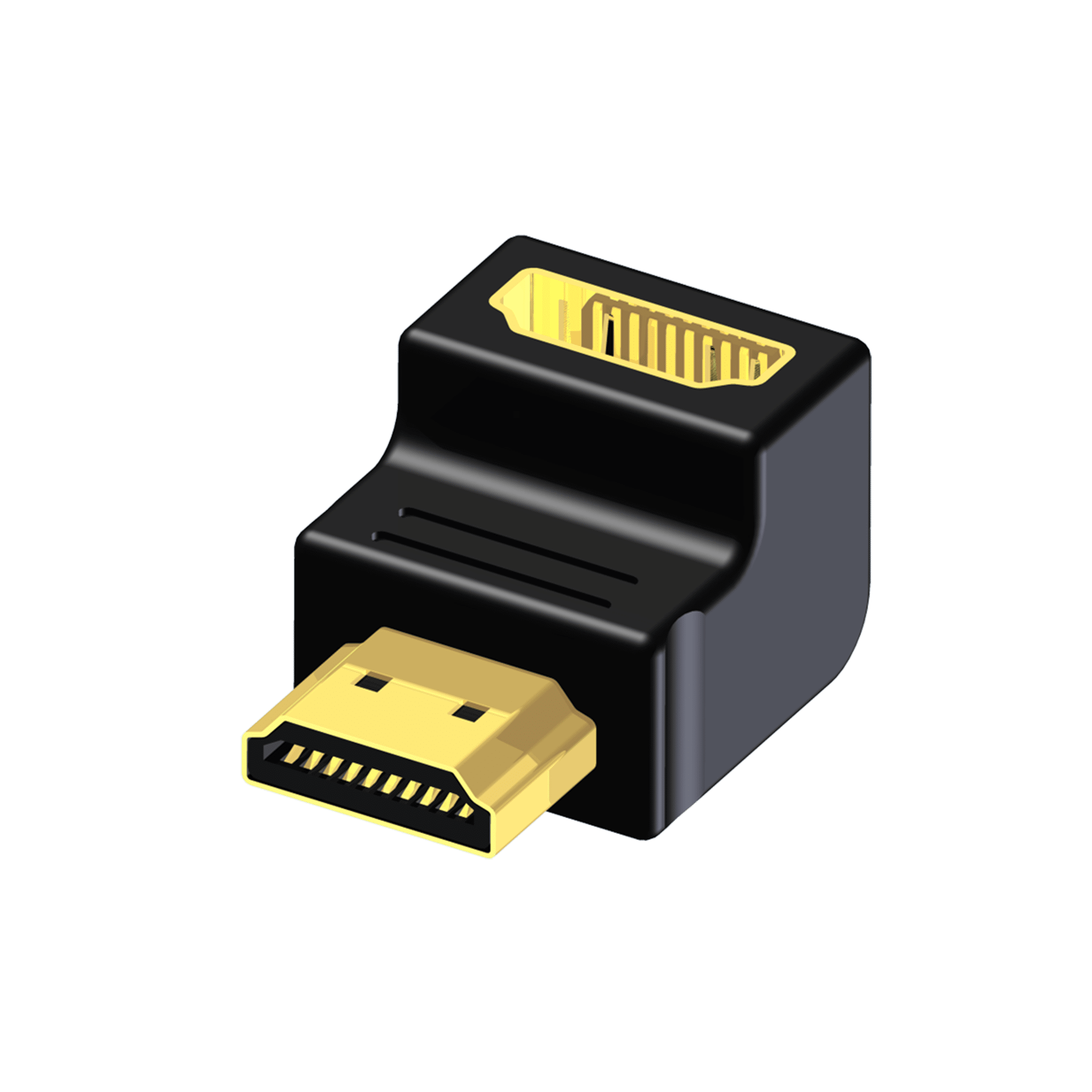 BSP460 - Adapter - HDMI female - HDMI male - 90° angle