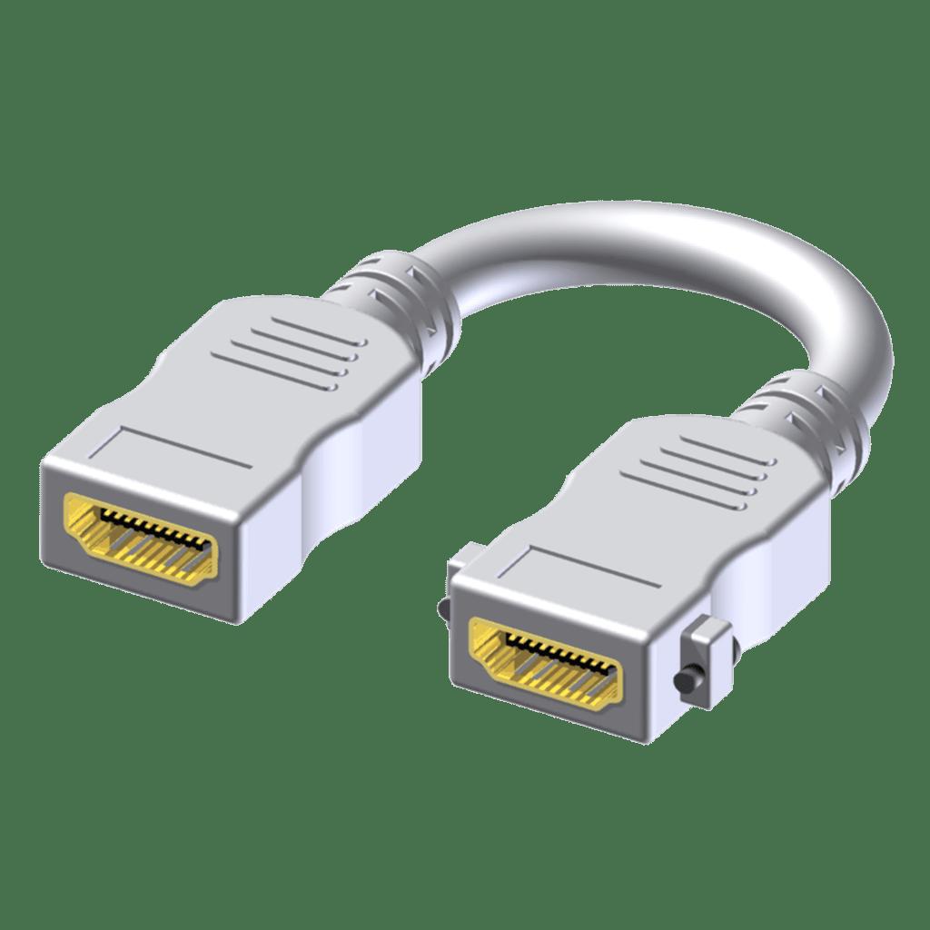 BSP602 - Adapter -HDMI female - HDMI female - Pigtail