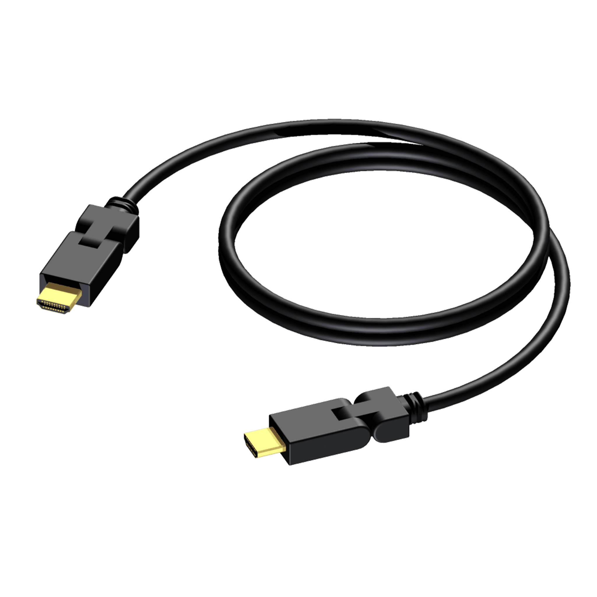 BSV101 - HDMI A male - HDMI A male - swivel connected