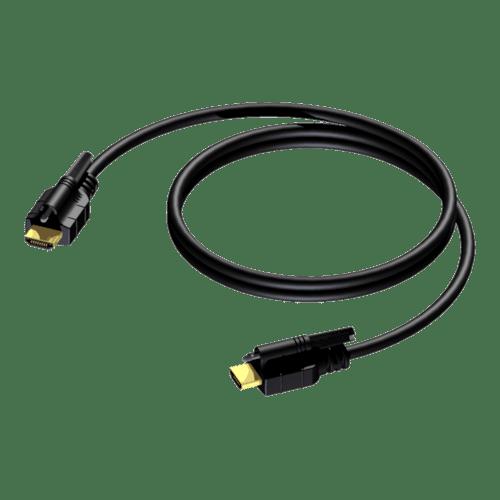 BSV104 - HDMI A male - HDMI A male - double locking