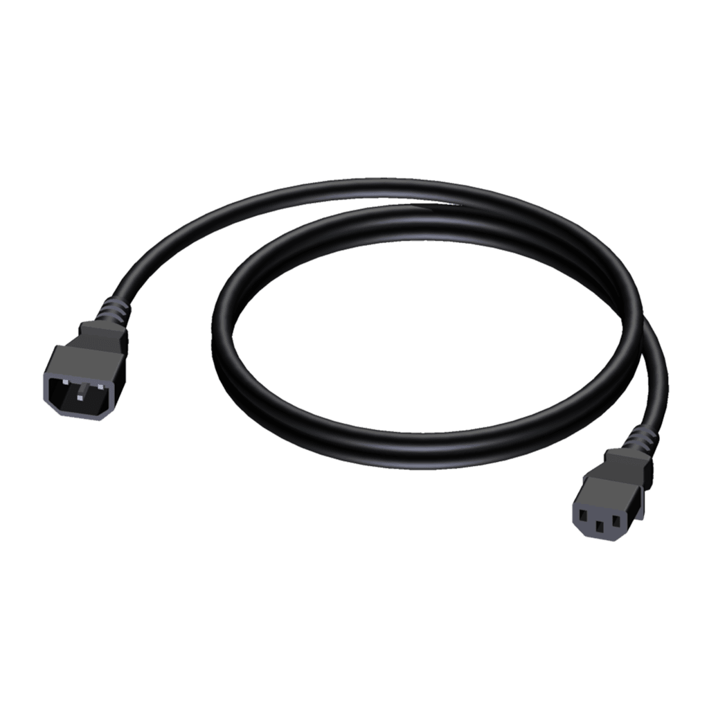CAB480 - Power cable - euro power male - euro power female - 3 x 1.5 mm²
