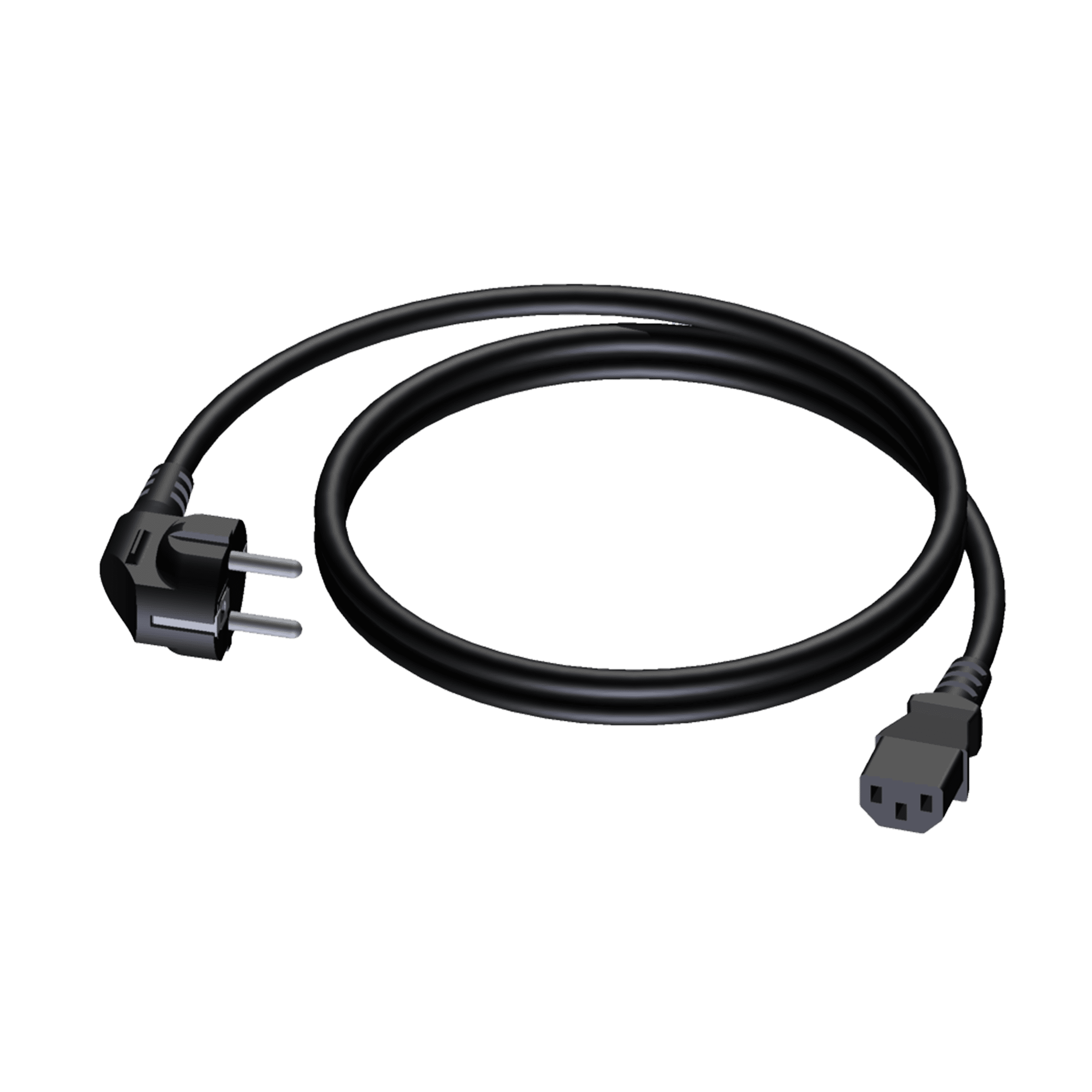 CAB490 - Power cable - schuko male - euro power female - PVC lead - 3 x 1.5 mm²