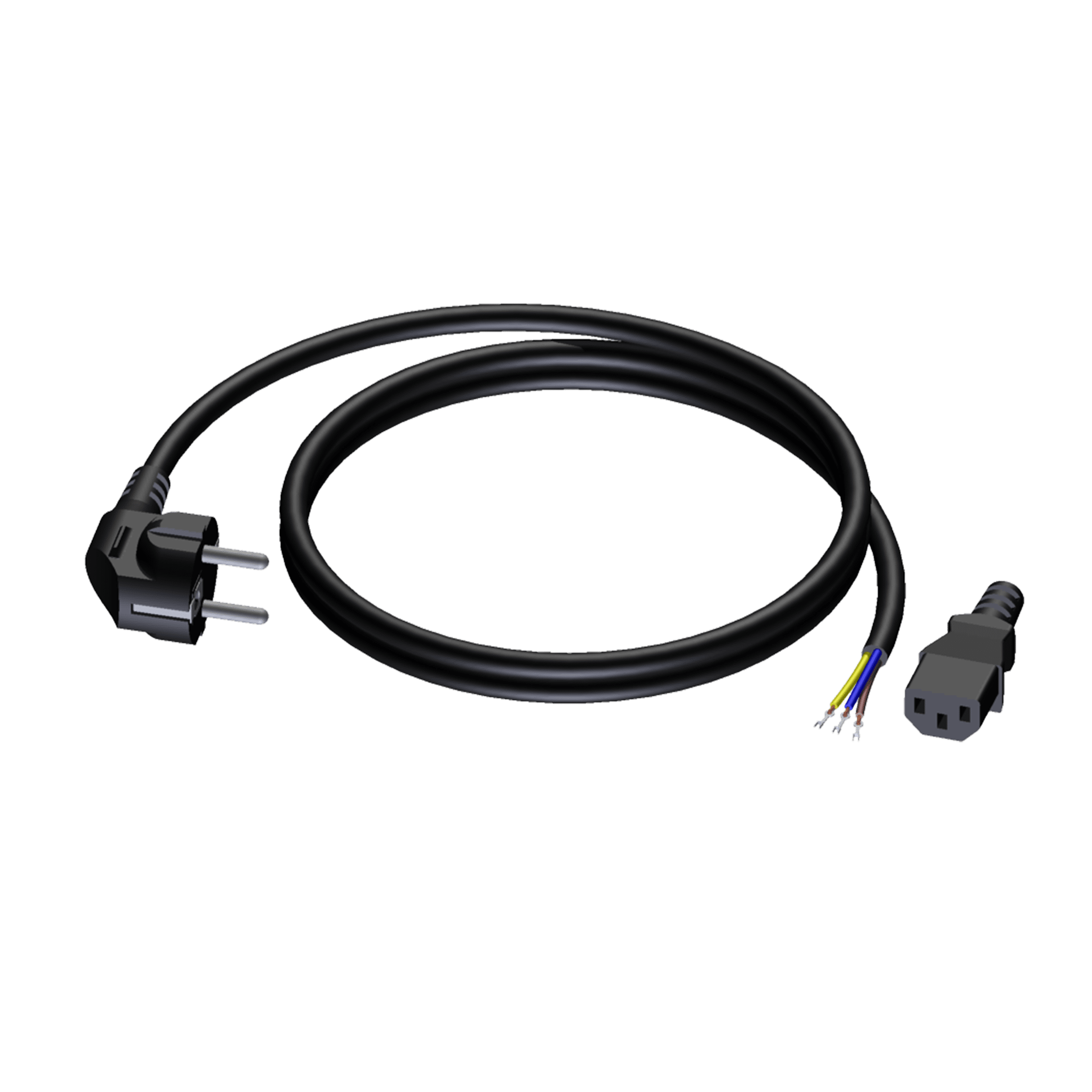 CAB491 - Power cable - schuko male - euro power female - open ended - 3 x 1.5 mm²