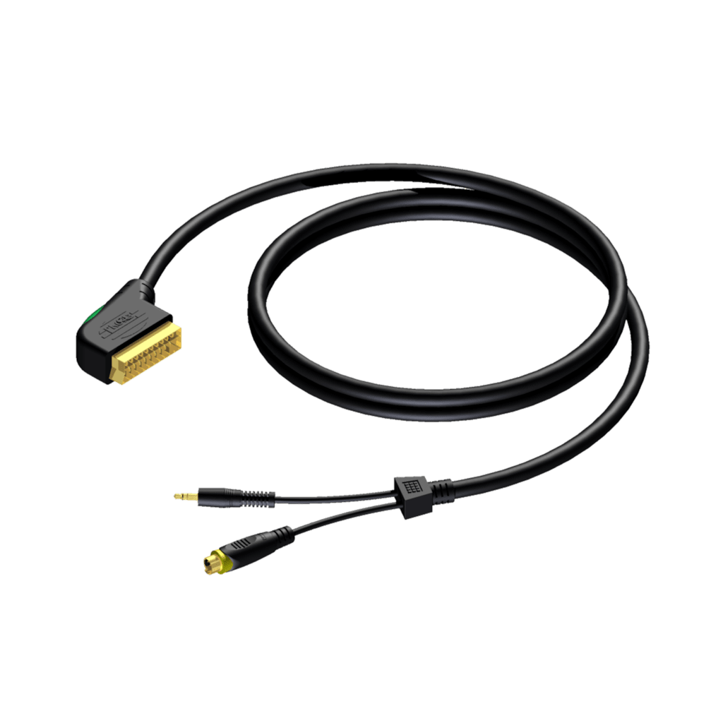 CAV142 - Scart male - SVHS male & 3.5 mm Jack male stereo