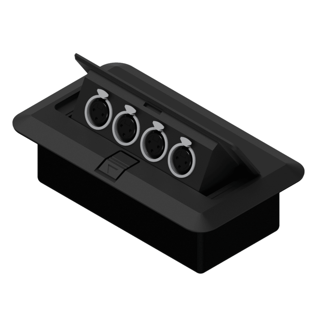 CB4XFF - Floor connection box 4 x XLR female