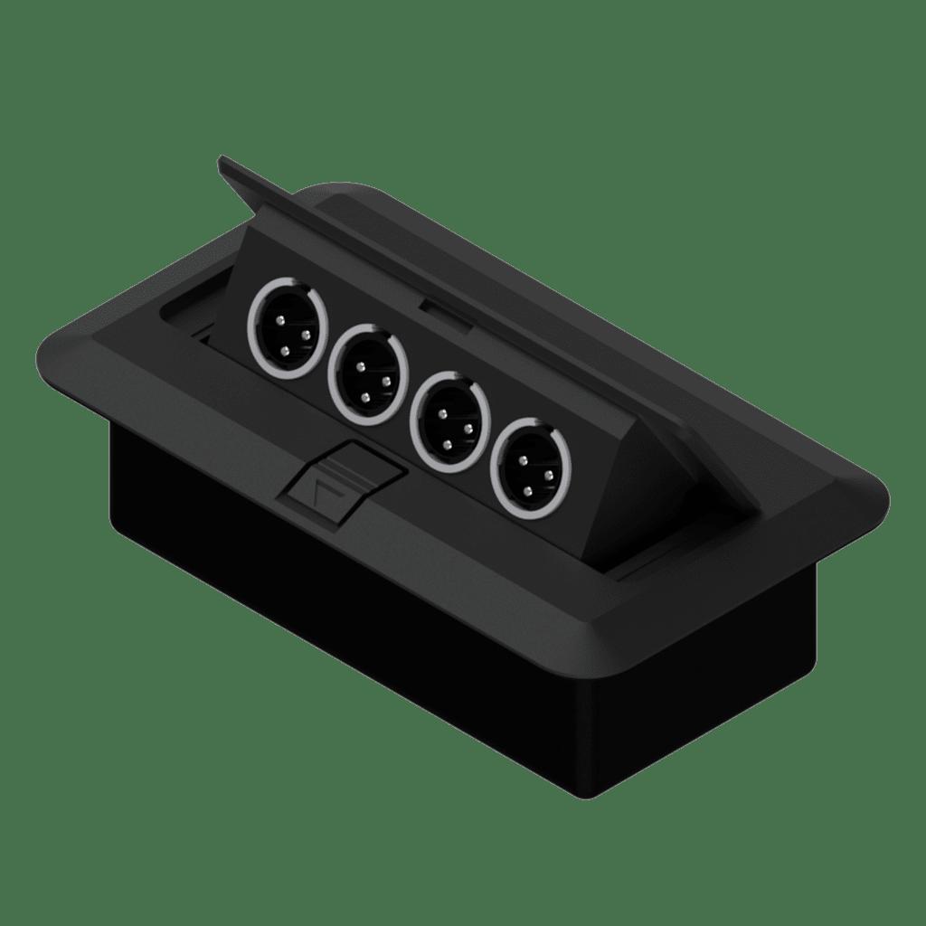 CB4XMM - Floor connection box 4 x XLR male