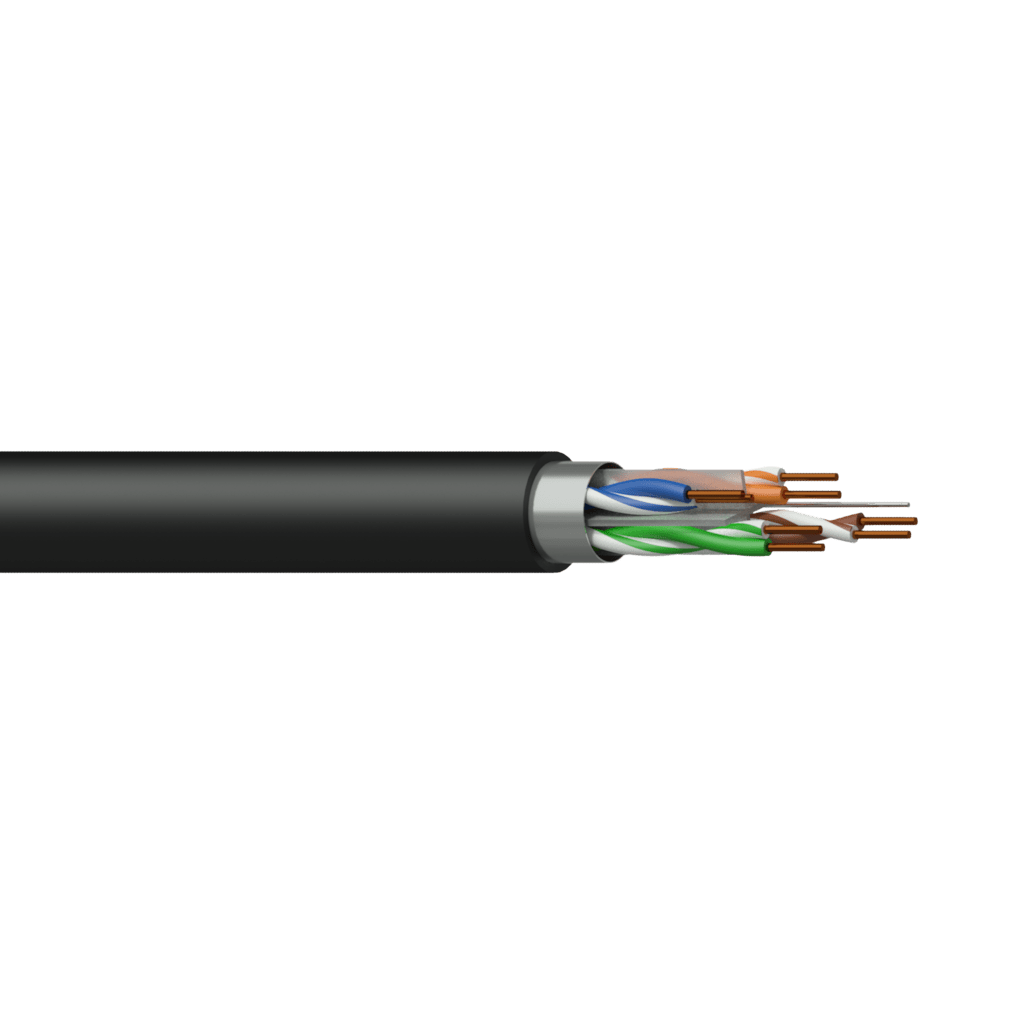 CCT60F - Networking cable - CAT6 - F/UTP - solid 0.25 mm² - 23 AWG - FlamoFlex™