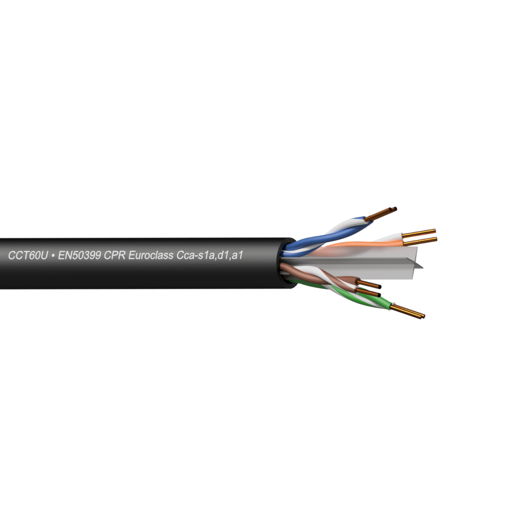 Networking cable - CAT6 - U/UTP - solid 0.25 mm� - 23 AWG - EN50399 CPR Euroclass Cca-s1a,d1,a1