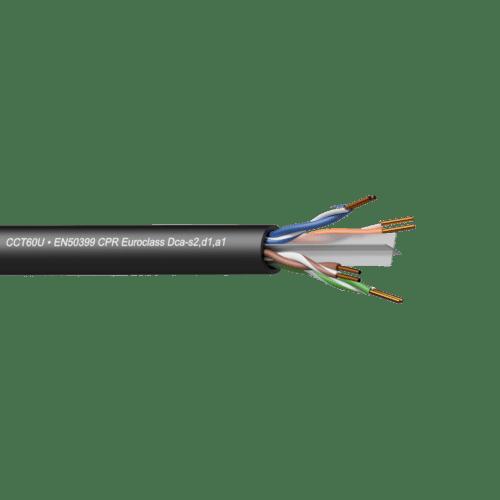 CCT60U-DCA - Networking cable - CAT6 - U/UTP - solid 0.25 mm² - 23 AWG - EN50399 CPR Euroclass Dca-s2,d1,a1