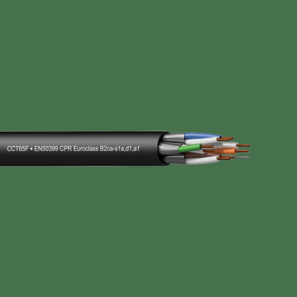 CCT65F-B2CA - Networking cable - CAT6A - U/FTP - solid 0.25 mm² - 23 AWG - EN50399 CPR Euroclass B2ca-s1a,d1,a1