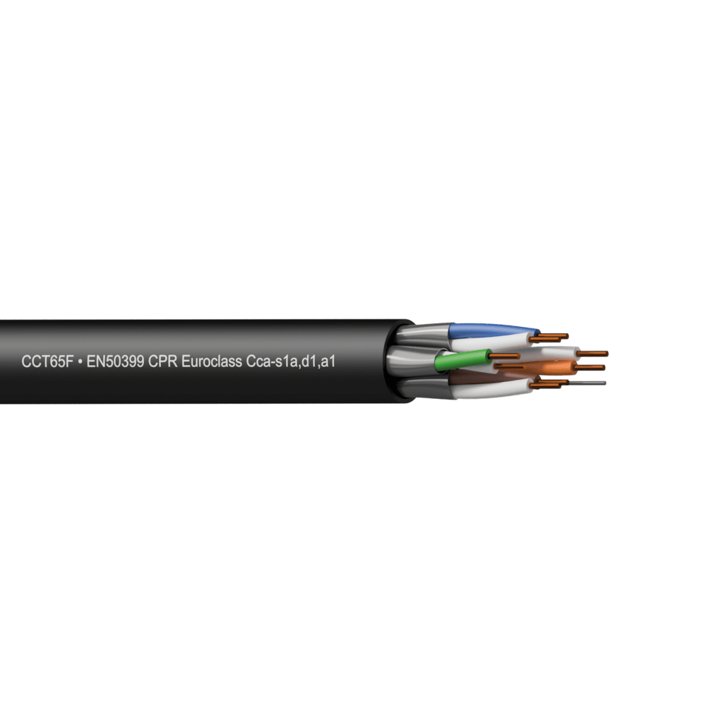 CCT65F-CCA - Networking cable - CAT6A - U/FTP - solid 0.25 mm² - 23 AWG - EN50399 CPR Euroclass Cca-s1a,d1,a1