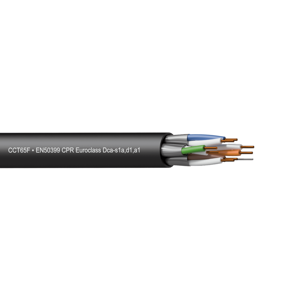 CCT65F-DCA - Networking cable - CAT6A - U/FTP - solid 0.25 mm² - 23 AWG - EN50399 CPR Euroclass Dca-s1a,d1,a1