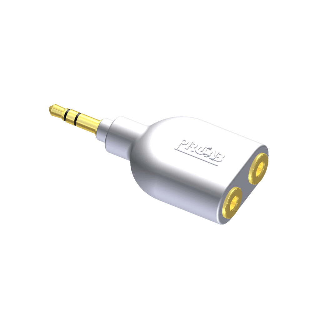 CIP700 - Adapter - 3.5 mm Jack male stereo - 2 x 3.5 mm Jack female stereo