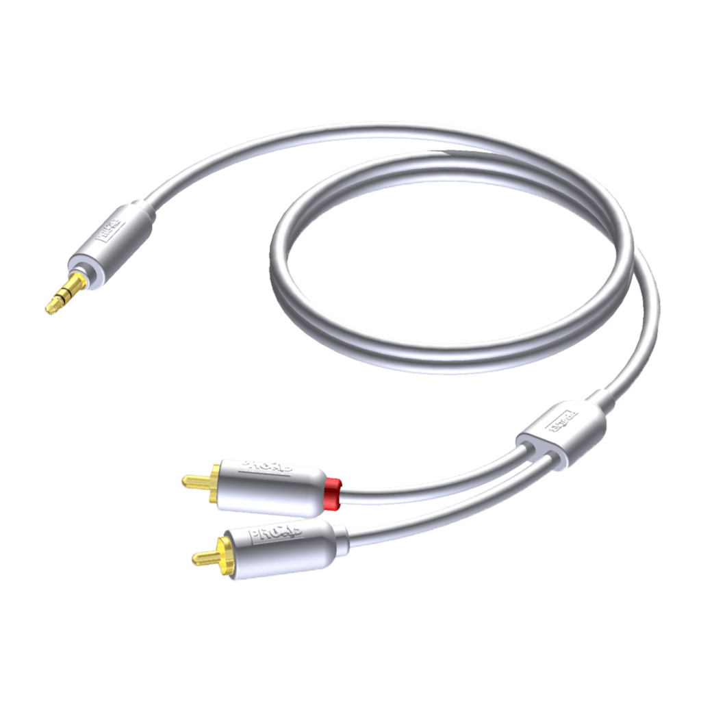 CIP712 - 3.5 mm Jack male - 2 x RCA/Cinch male