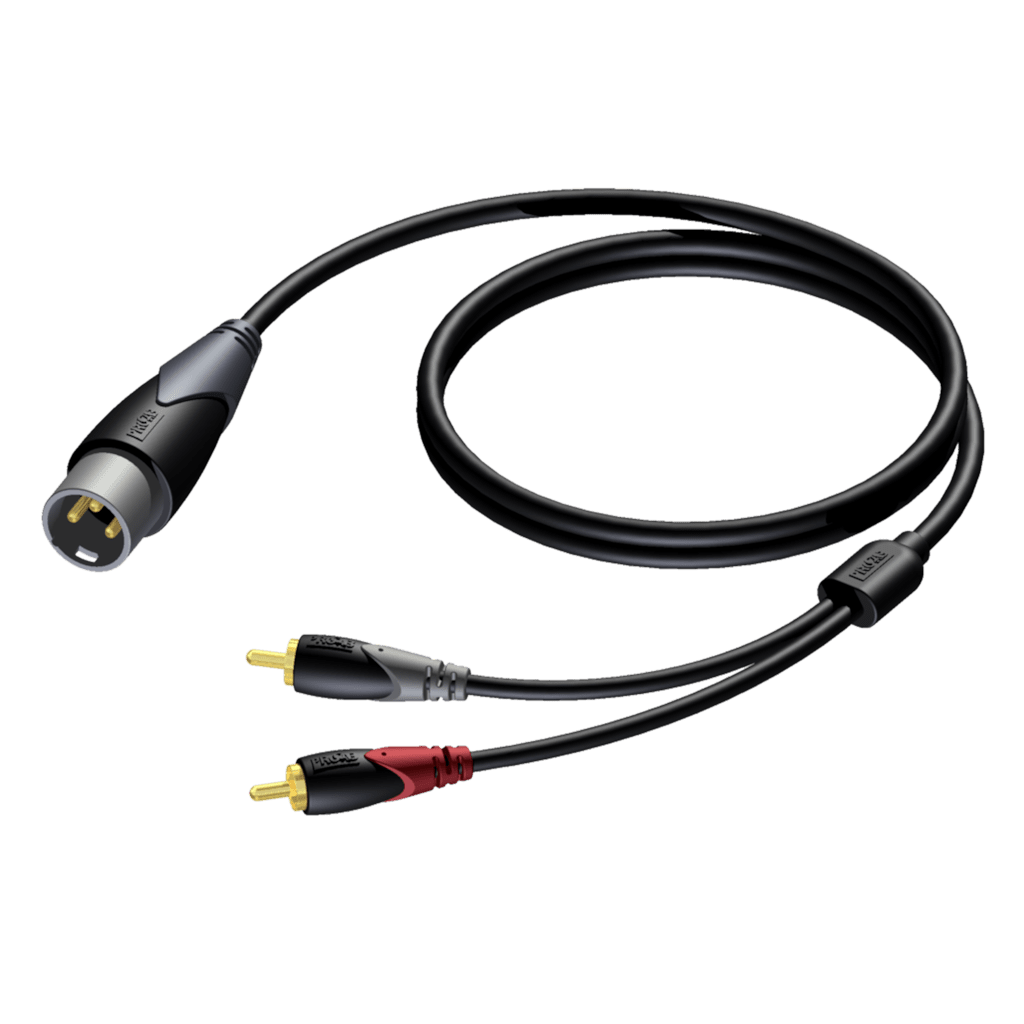 CLA703 - XLR male - 2 x RCA/Cinch male