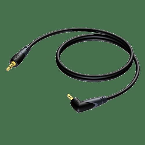 CLA718 - 3.5 mm Jack male stereo - 3.5 mm Jack angled male stereo