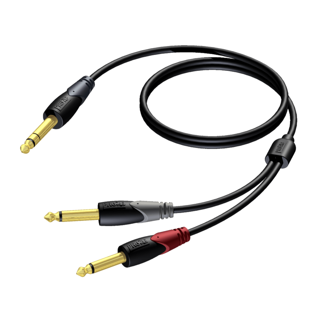 CLA721 - 6.3 mm Jack male stereo - 2 x 6.3 mm Jack male