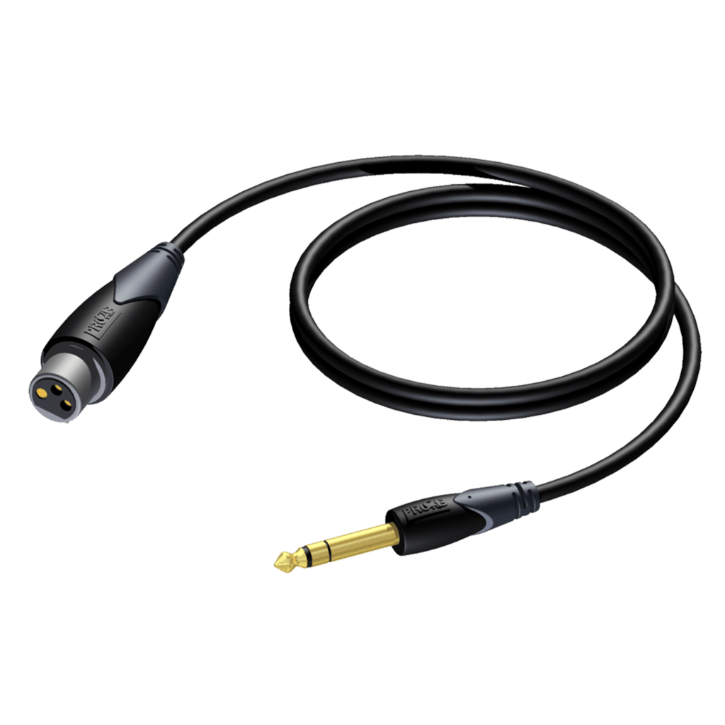 CLA723 - XLR female - 6.3 mm Jack male stereo