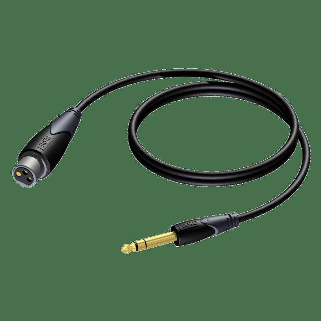 CLA723 - XLR female - 6.3 mm Jack male stereo