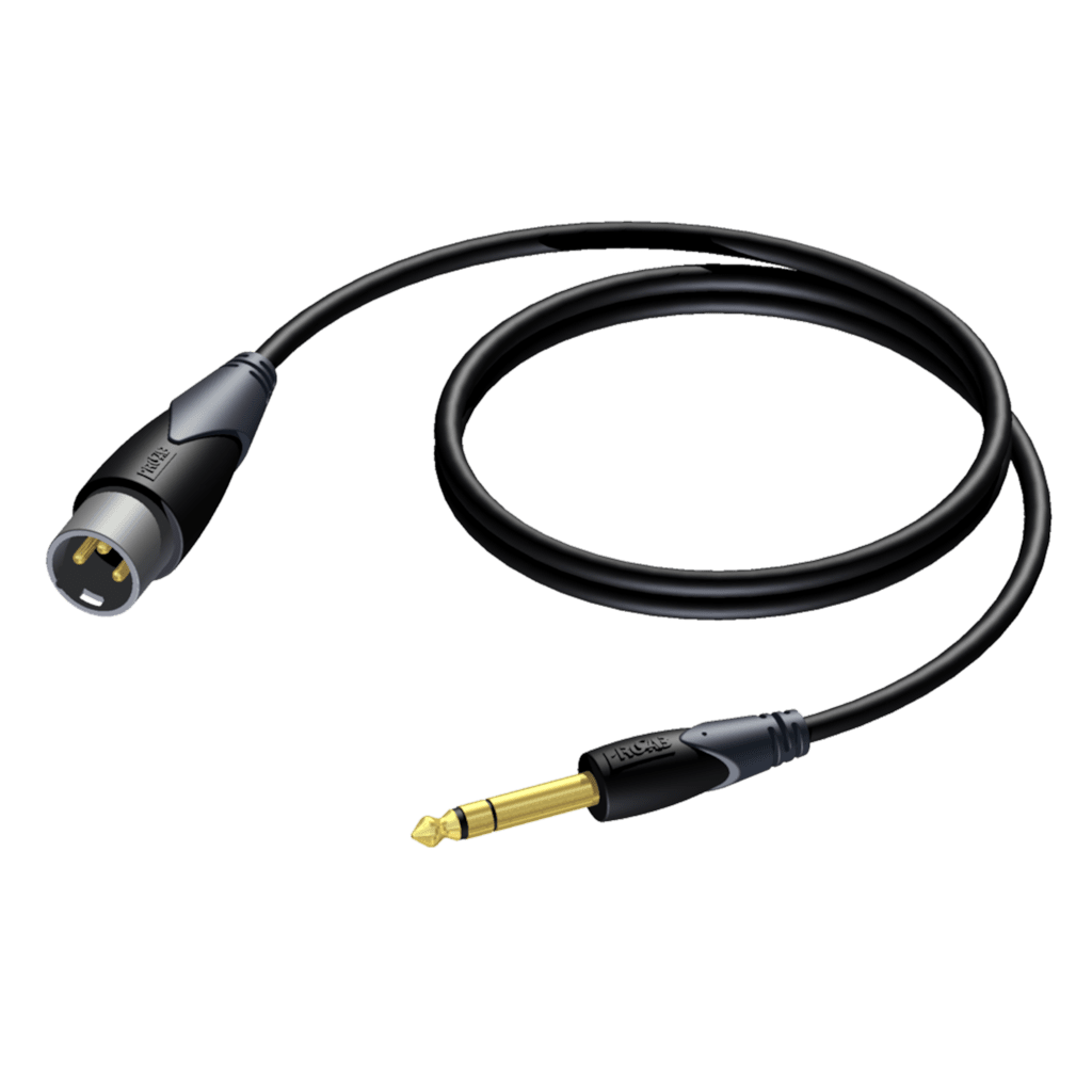 CLA724 - XLR male - 6.3 mm Jack male stereo