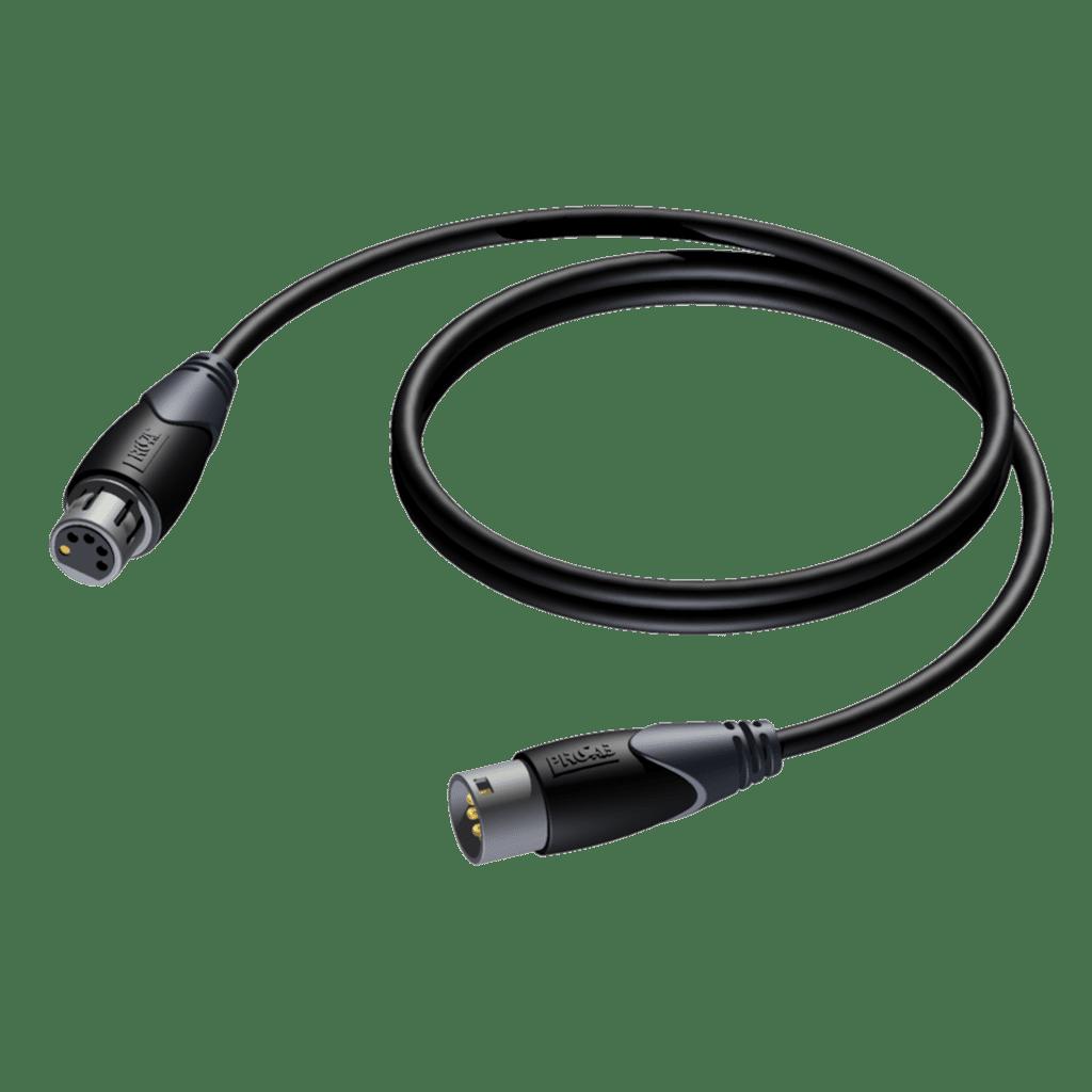 Dmx-aes 110 Ohm Cable 5 Pole -xlr Male - Xlr Fem. - 1.5m