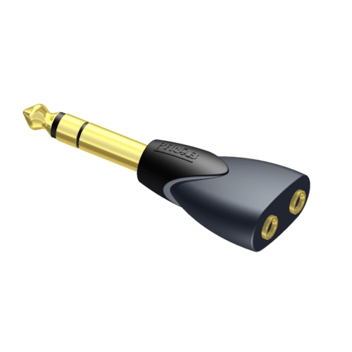 CLP208 - Adapter - 2 x 3.5 mm Jack female stereo - 6.3 mm Jack male stereo